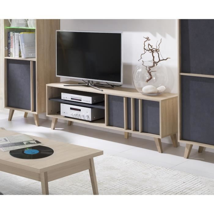 price factory meuble tv d co scandinave malmo coloris. Black Bedroom Furniture Sets. Home Design Ideas