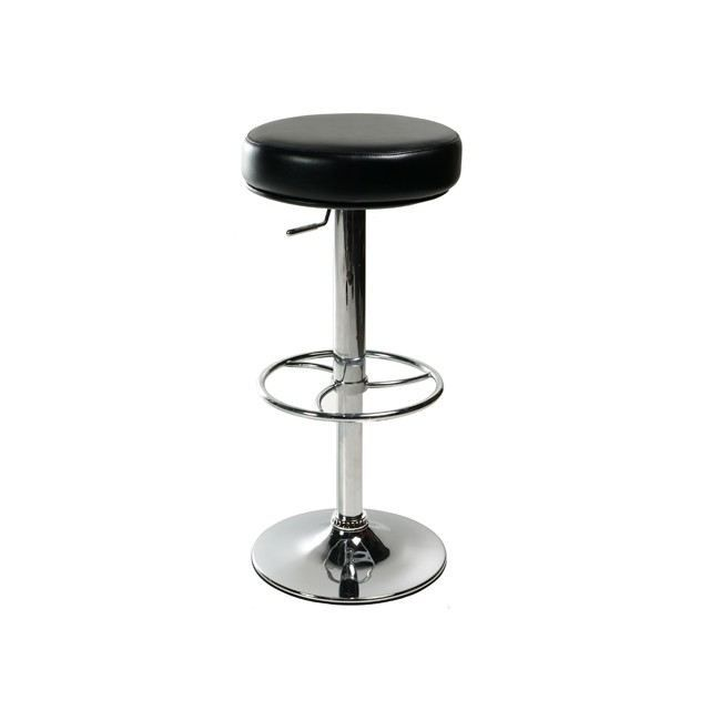 tabouret de bar moderne noir irina achat vente tabouret cdiscount. Black Bedroom Furniture Sets. Home Design Ideas