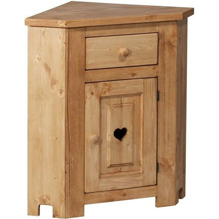 meuble bas d 39 angle avec coeur 1 porte 1 tiroir achat vente commode de chambre meuble bas d. Black Bedroom Furniture Sets. Home Design Ideas