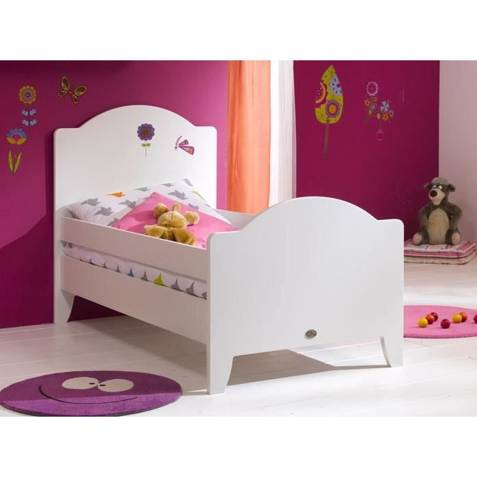 lit enfant 90 x 190 calypso blanc achat vente lit complet lit enfant 90 x 190 calypso. Black Bedroom Furniture Sets. Home Design Ideas