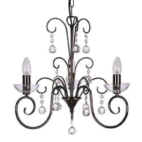 atanea lustre 3 lampes finition chrome noir i achat vente atanea lustre 3 lampes fi. Black Bedroom Furniture Sets. Home Design Ideas