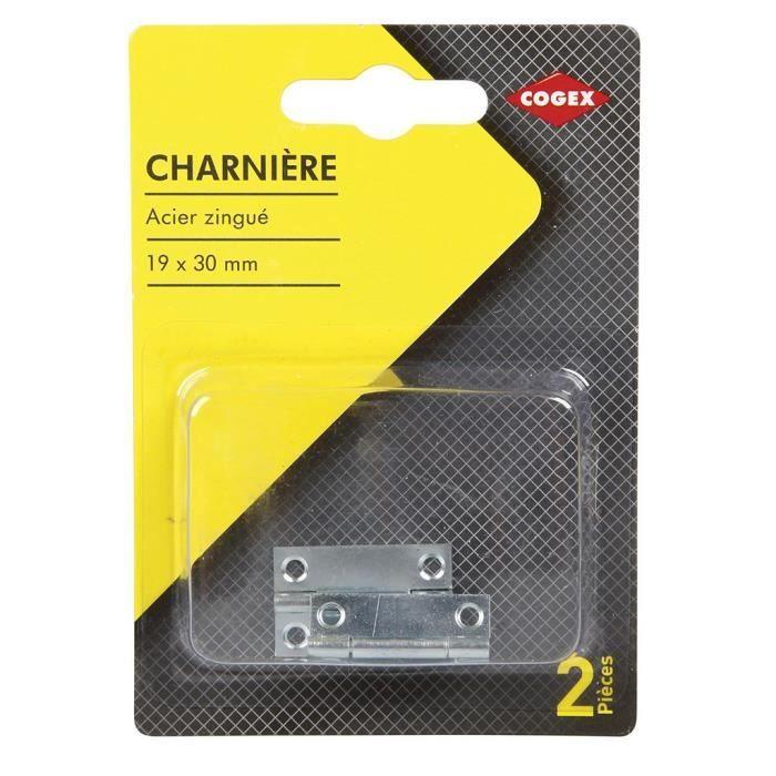 """Acier Grand Butt Charnière 4/"""" X 3/"""" 100 mm x 70 mm Une paire"""