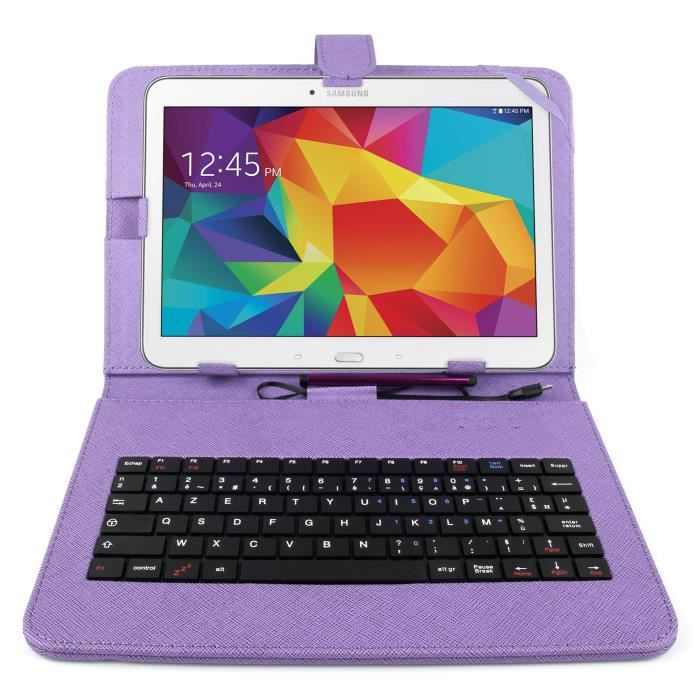 etui violet clavier pour samsung galaxy tab 4 10 1 prix. Black Bedroom Furniture Sets. Home Design Ideas