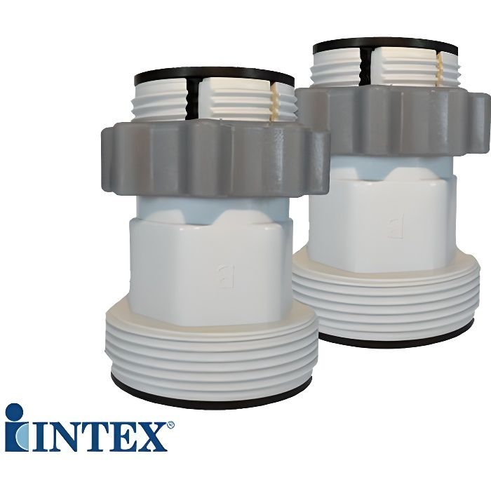 Lot de 2 adaptateurs 32 38mm intex achat vente raccord for Vanne d arret piscine intex