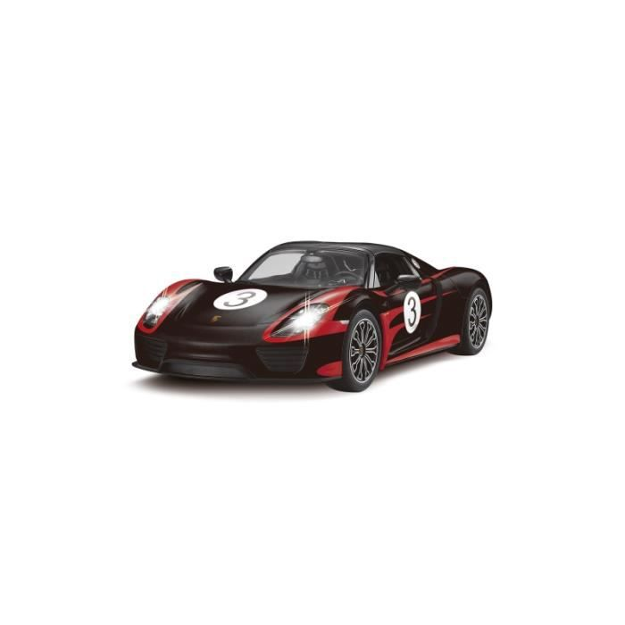 voiture rc porsche 918 spyder performance noire et rouge 1. Black Bedroom Furniture Sets. Home Design Ideas