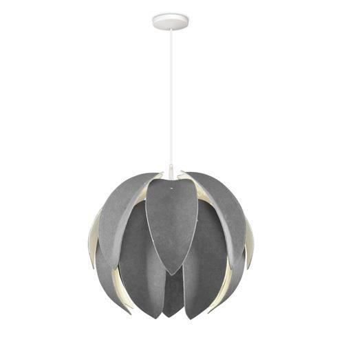 Suspension leaf en feutre grise design achat vente for Suspension grise