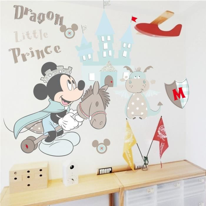 Stickers muraux enfant mickey petit prince achat vente for Decoration maison mickey