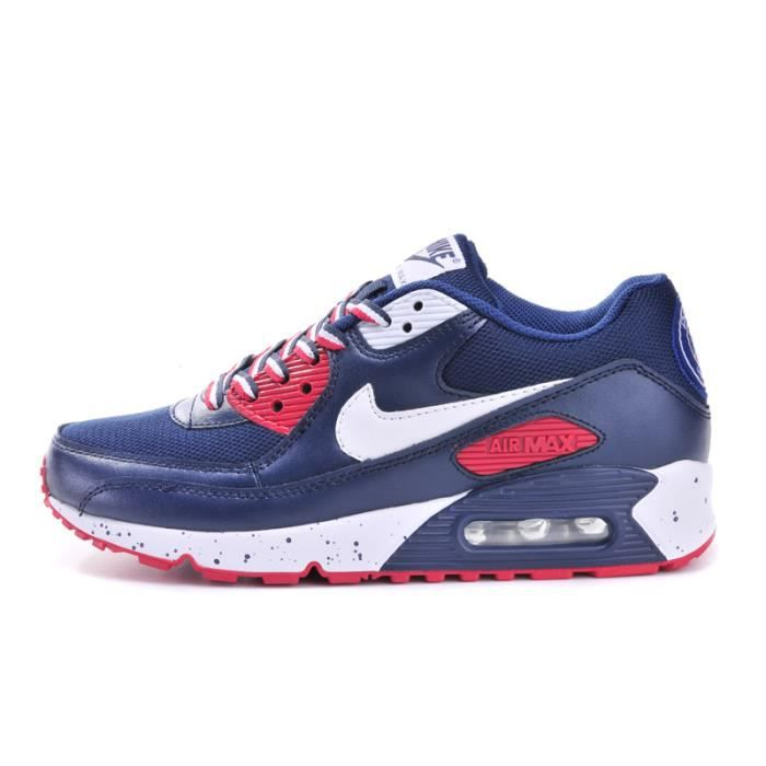basket nike air max 90 paris st germain bleu bleu bleu rouge achat vente basket cdiscount. Black Bedroom Furniture Sets. Home Design Ideas