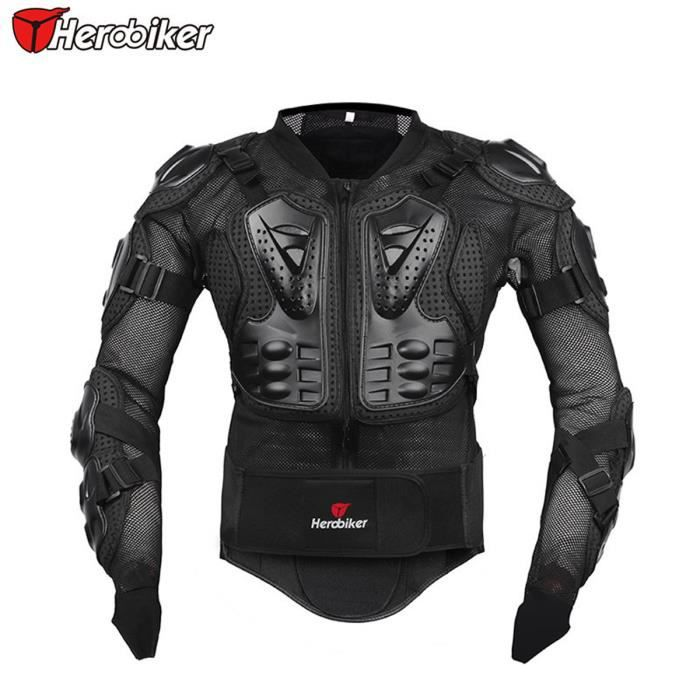 noir veste de moto moto armure protectrice protection du corps moto armure achat vente. Black Bedroom Furniture Sets. Home Design Ideas