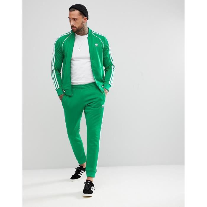 adidas survetement vert
