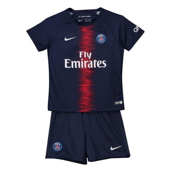 Maillot PSG Enfant Suit Paris Saint Germain Équipe 2018 19 Enfants Maillot  de Football Tops + Shorts ecfa15e0b82b3