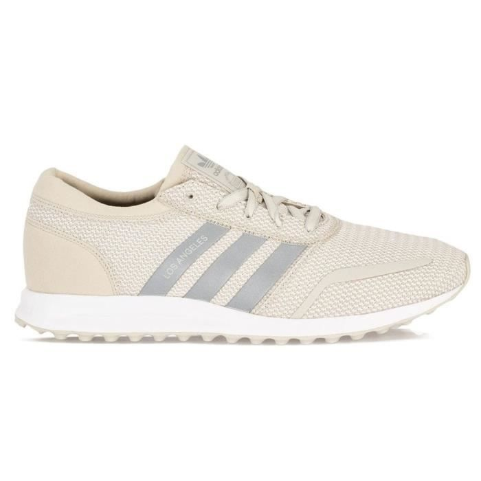 Baskets Adidas Los Angeles 44 2/3 Blanc - Cdiscount Chaussures