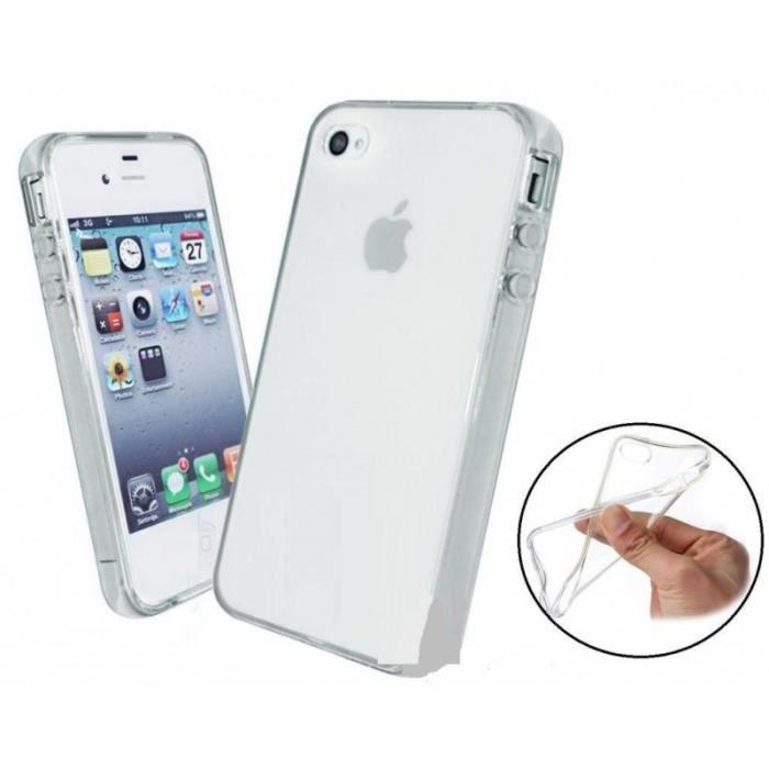 coque iphone 4 4s silicone souple transparente