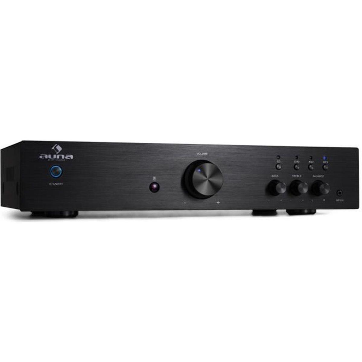 AMPLIFICATEUR HIFI auna AV2-CD508 - Ampli HiFi Stereo avec 3 entrées