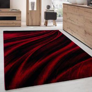 TAPIS Tapis de salon - Design vague Miami 6630 - Rouge e