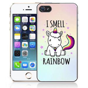 coque iphone 4 4s licorne i smell rainbow