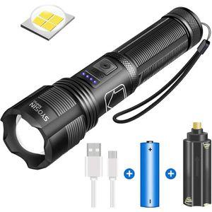 T6 ZOOMABLE militaire tactique 18650 Lampe de Poche Torche DEL Rechargeable USB Lumière