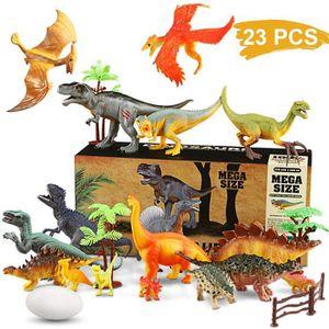 FIGURINE - PERSONNAGE Dinosaure Jouet Réaliste Dinosaure Modèle Ensemble