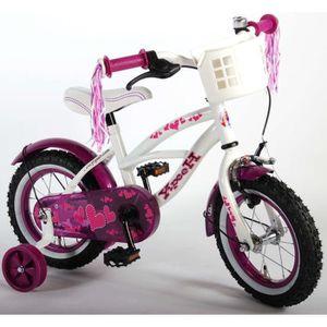 VÉLO ENFANT Vélo femme 12 pouces roues de stabilisation blanc