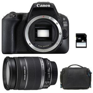 APPAREIL PHOTO RÉFLEX CANON EOS 200D + EF-S 18-200 mm f/3.5-5.6 IS GARAN