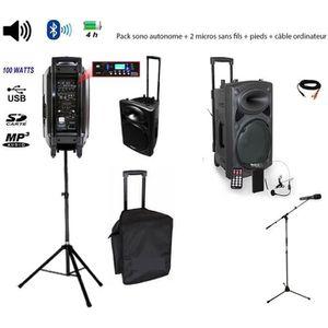 PACK SONO Pack IBIZA Sono portable Port15vhf-BT + pied encei