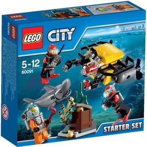 ASSEMBLAGE CONSTRUCTION LEGO® City 60091 Ensemble de Démarrage Sous-Marin