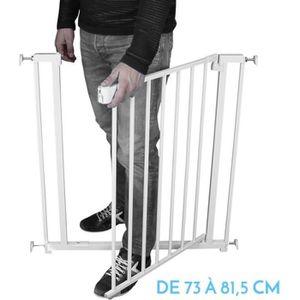 BARRIÈRE DE SÉCURITÉ  Barrière de sécurité extensible de 73 à 81,5 cm