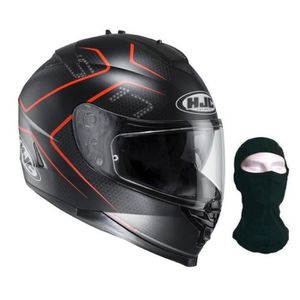 CASQUE MOTO SCOOTER HJC Casque intégral IS-17 Lank  noir orange + cago