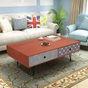 TABLE BASSE Economique Table basse 100 x 60 x 35 cm marron
