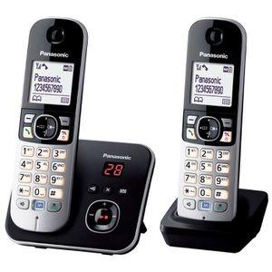 Téléphone fixe Panasonic KX-TG6822 Téléphones Sans fil Répondeur
