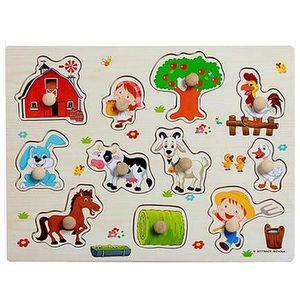 PUZZLE Puzzle en bois les animals à la ferme jouet éducat