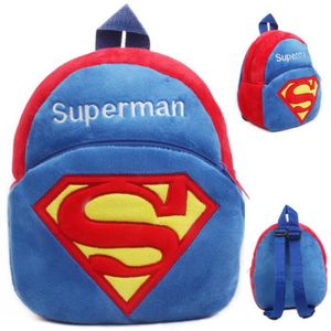 CARTABLE Superman Cartoon enfants jouets en peluche sac à d