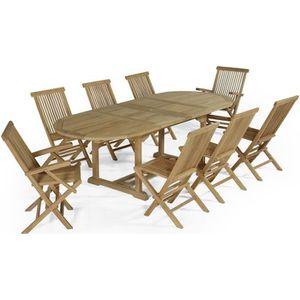 SALON DE JARDIN  Salon de jardin en teck Ecograde Bora-Bora, table