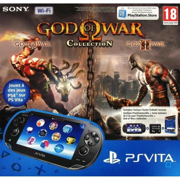 Pack PS Vita WiFi +Jeu God Of War Collec. + CM 8Go