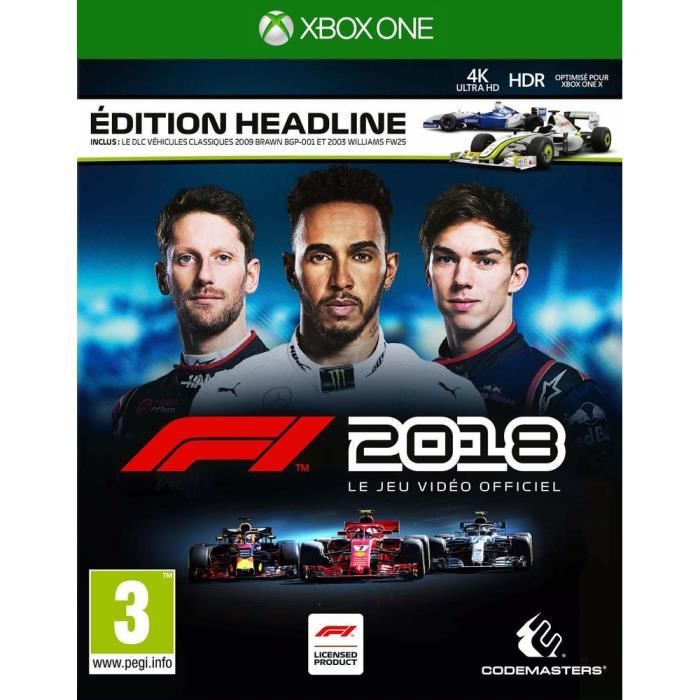 F1 2018 Headline Edition Jeu Xbox One