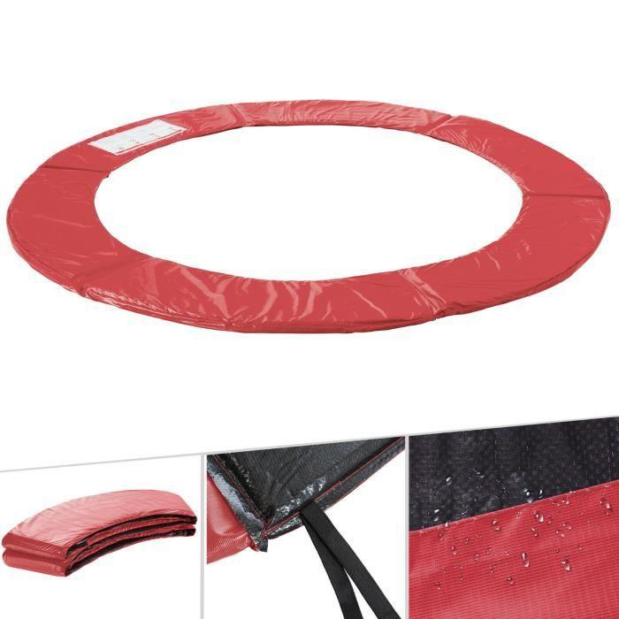 Arebos Coussin de protection des ressorts pour trampoline 244cm rouge