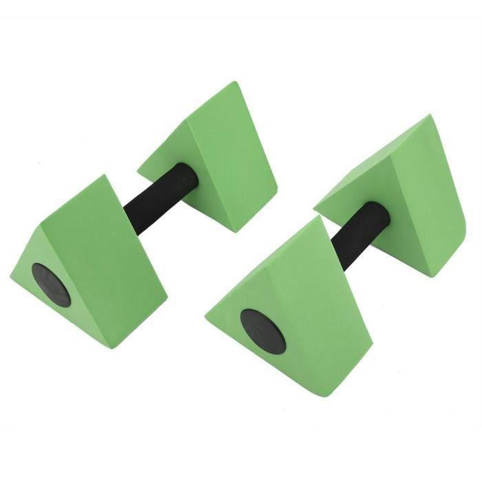 2 PCS Triangle Haltère EVA Poids D'eau Barbell Enfants Natation Équipement De Remise En Forme(vert )-RUI
