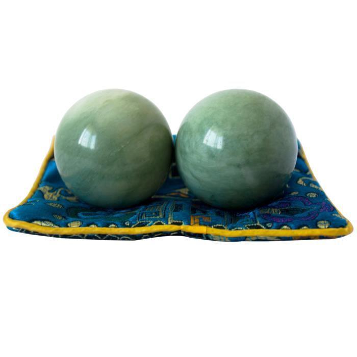Boules de Santé Exercice Baoding Qi Gong Massage Chinoises Stress Relaxer Doigts Cadeau 5cm Vert Foncé
