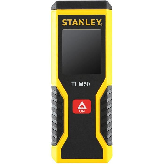 Télémètres Stanley STHT1-77409 TLm50 Télémètre mESURE LASER - PORTÉE de 15m - PRÉCISION : +--3mm - 2 FONCTIONS mesure Di 17339