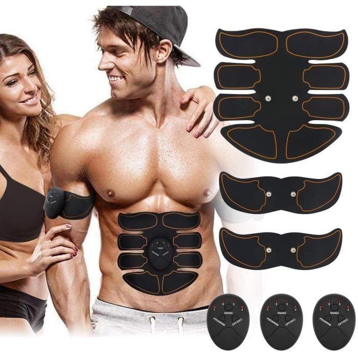 Electrostimulateur Musculaire, Smart Appareil de Fitness EMS Appareil Abdominal/Bras/Cuisses Muscle Stimulateur Hommes et Femmes