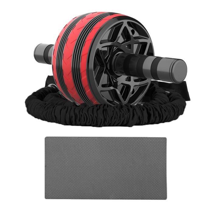 Roue Abdominale AB Wheel Roller Fitness et Musculation de Corp-Appareil Abdominal + Tapis Epais pour Genoux