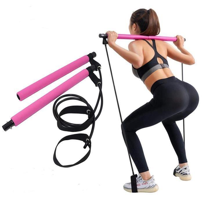 La résilience Bâton de Yoga Pilates Bandes Barre d'exercice Bandes Elastiques de Résistance Portable pour Yoga Gym Pilates Fitness