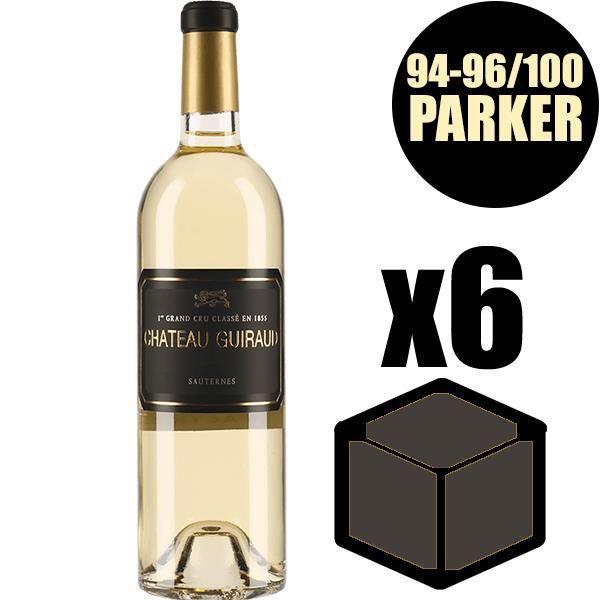 X6 Château Guiraud 2015 75 cl AOC Sauternes 1er Cru Classé Vin Blanc Vin Liquoreux