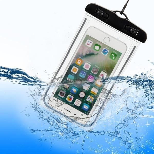 Pochette Etanche Tactile pour SONY Xperia 1 Smartphone Eau Plage IPX8 Waterproof Coque (NOIR)