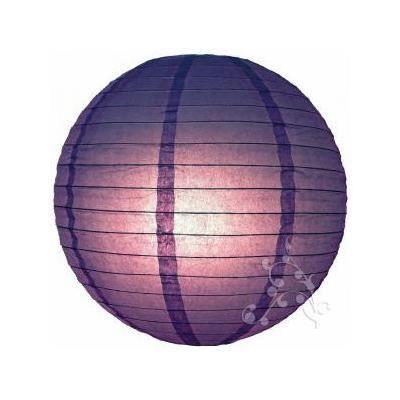 Lampion boule chinoise violet 8 ou 10cm