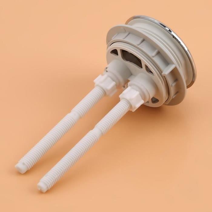 38-48-58mm Double bouton poussoir universel chasse d'eau siège de toilette vanne de réservoir d'eau WC Double 2 tiges [D1629BF]