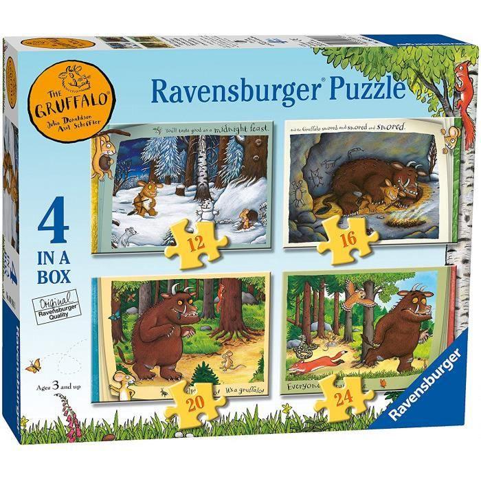 Ravensburger Boîte De 4 Puzzles Pour Enfant À Partir De 3 Ans Gruffalo (12, 16, 20, 24 Pièces) 6916