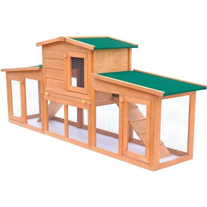 Magnifique- Clapier Poulailler enclos Abris cages petits animaux Poules large pour petits animaux avec toits Bois