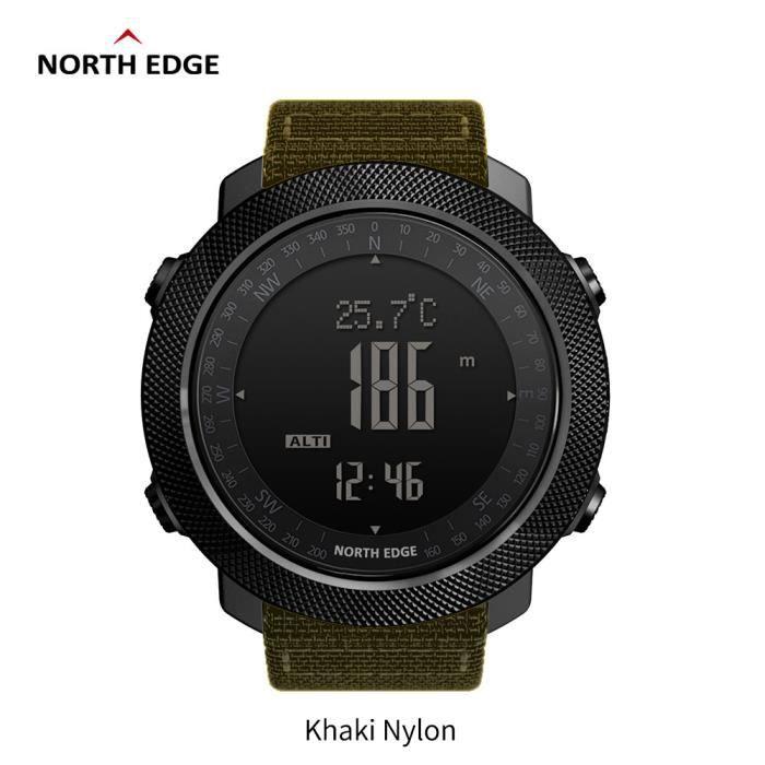 F North Edge APACHE Sports Smartwatch étanche 50 m natation altimètre baromètre boussole escalade militaire montre intelligente