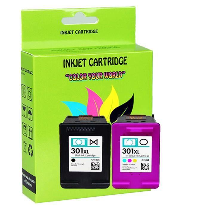 2x cartouche d'imprimante pour Compatible HP 301 XL Deskjet 1510 2540 4500 ENVY Officejet 2620
